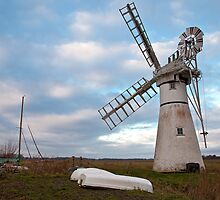 Thurne Mill, Norfolk, UK 3 by Gary Rayner