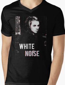 White Noise Mens V-Neck T-Shirt