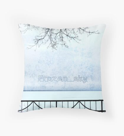 Frozen sky Throw Pillow