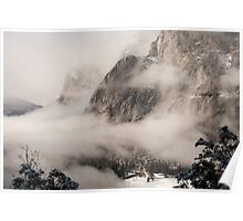 Yosemite Fog - Lower Brother in front of El Capitan Poster