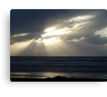 Last rays of sun over the Pacific Canvas Print