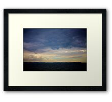 France from the English Channel Framed Print