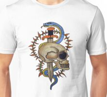 skull and snake tattoo design  Unisex T-Shirt
