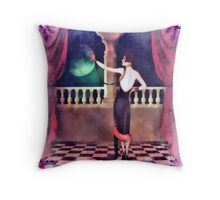 By the light of the Silvery Moon... Throw Pillow