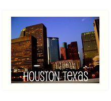 Houston edited Art Print