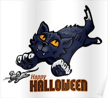 Spooky Animals Cat and Mouse Poster