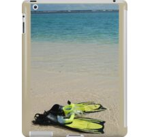 Yellow Flippers and Snorkel at Waters Edge iPad Case/Skin