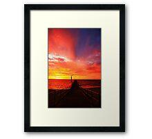 Australia Day sunset 2011 Framed Print