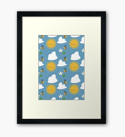 Sunshine and Bees Framed Print