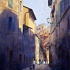 Narrow Lane Siena, Italy by Joe Cartwright