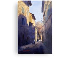 Narrow Lane Siena, Italy Metal Print