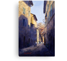 Narrow Lane Siena, Italy Canvas Print