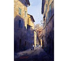 Narrow Lane Siena, Italy Photographic Print