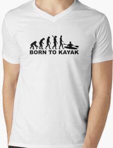 Evolution born to Kayak Mens V-Neck T-Shirt