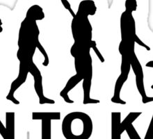 Evolution born to Kayak Sticker