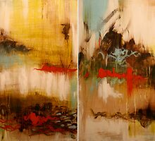 Neurosis Diptych. 48 x 30. Acrylic Painting.  by csoccio100