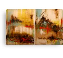 Neurosis Diptych. 48 x 30. Acrylic Painting.  Canvas Print
