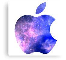 Galaxy Apple Logo Canvas Print
