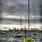 St Kilda Marina and City Skyline 2 by JHP Unique and Beautiful Images