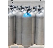 Silver Scuba Diving Cylinder Tanks on the Dockside iPad Case/Skin