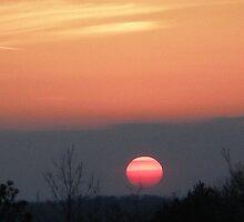 Pink Sun Going Down by allmanstudio