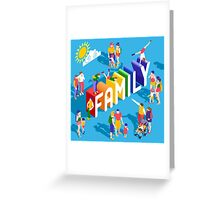 Rainbow Family Lifestyle Greeting Card