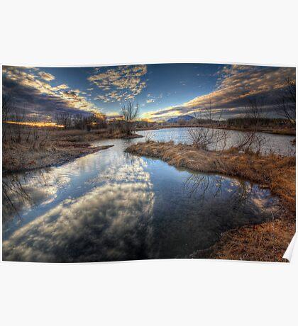 Skyview Pond Poster