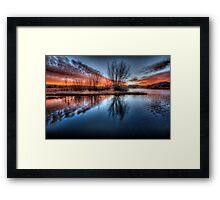 Sunset Point Wide Framed Print