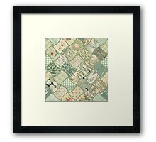 Origami Paper - Green Framed Print
