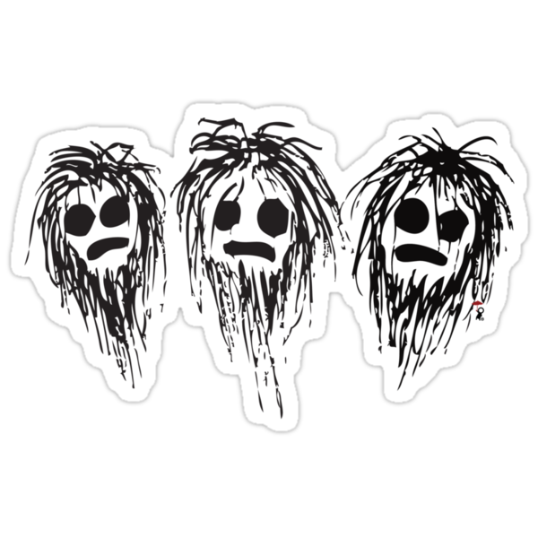 Shaggy heads by InkRain