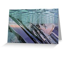 Reflections In Blue V Greeting Card