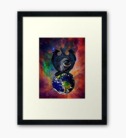 Alien Intervention Framed Print