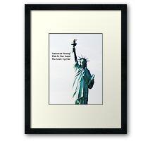American Strong Framed Print