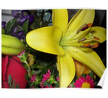 Spring Flower Bouquet Poster