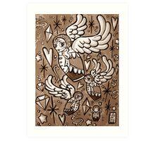 (Sepia) Wings of Desire Art Print