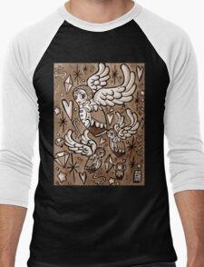 (Sepia) Wings of Desire Men's Baseball ¾ T-Shirt