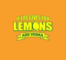 If Life Gives You Lemons, Add Vodka geek funny nerd Unisex T-Shirt