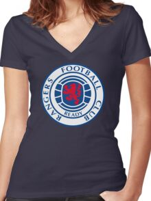 Glasgow Rangers Retro Women's Fitted V-Neck T-Shirt