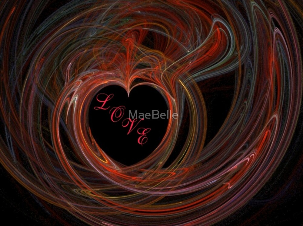 Heart a Flame with LOVE by MaeBelle