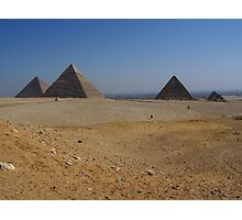 Giza Pyramids with Cairo City in the Distance Photographic Print