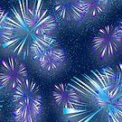 Fireworks - Purple & Blue by clearviewstock