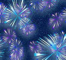 Fireworks - Purple & Blue by clearviewstock