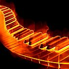 Red Hot Piano by clearviewstock