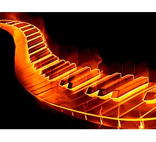 Red Hot Piano Photographic Print