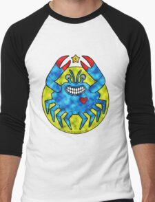 Blue Crab (Clouds) Men's Baseball ¾ T-Shirt