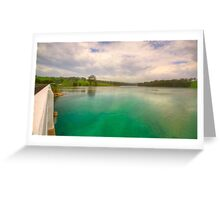 The saphire coast Greeting Card