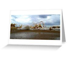 Clouds Sea Sand 13 Greeting Card
