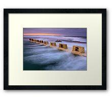 Merewether Ocean Baths - Sun Rise Framed Print