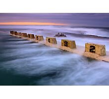 Merewether Ocean Baths - Sun Rise Photographic Print