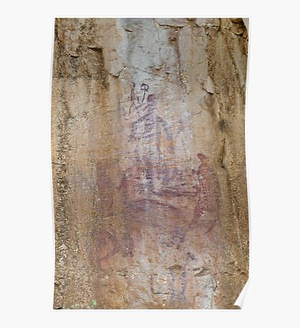 Rock Art 2 - Katherine Gorge, NT. Poster